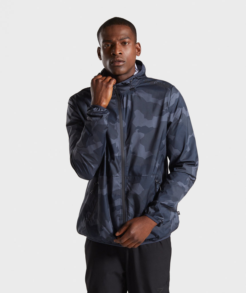 Gymshark Camo Lightweight Jacket - Black 1