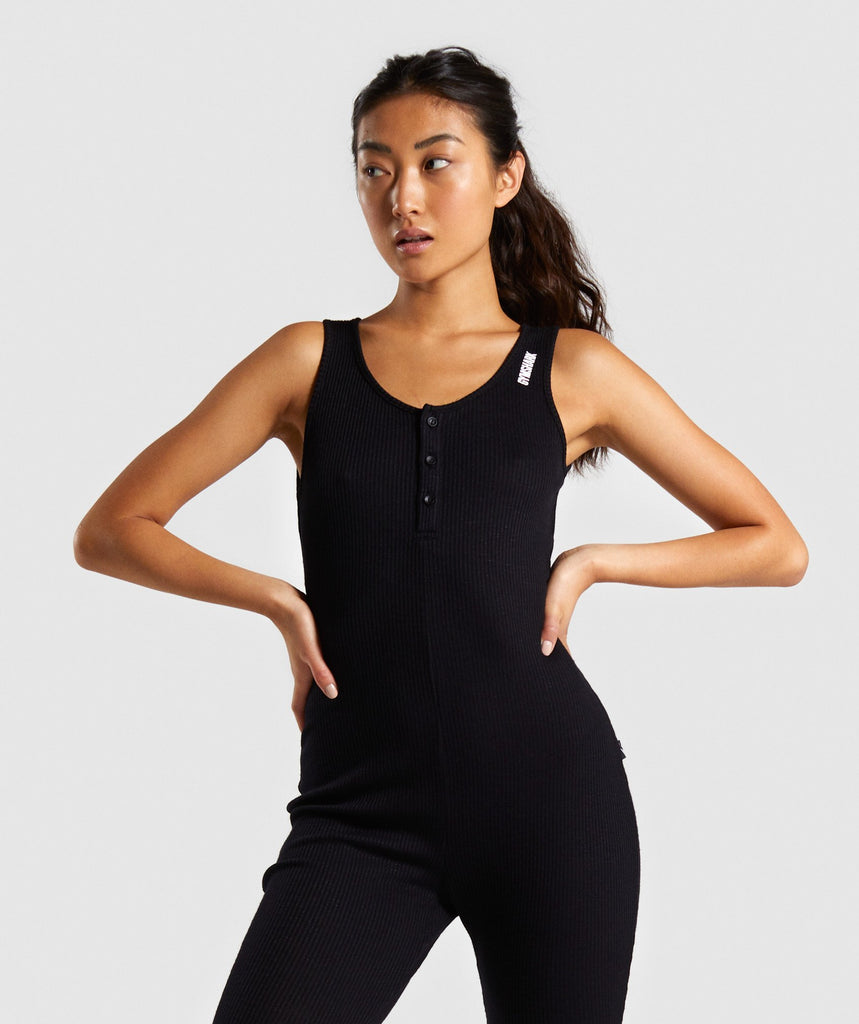 Gymshark Power Down Jumpsuit - Black 1