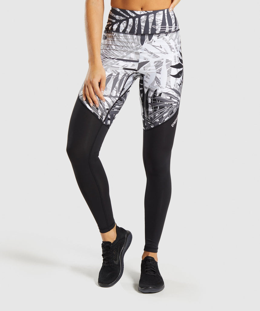 Gymshark Paradise Leggings - Black/White 1