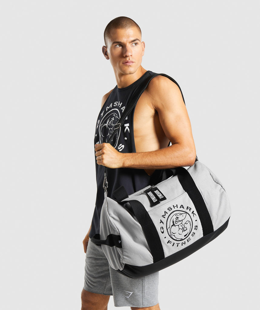 Gymshark Premium Legacy Holdall - Light Grey 1