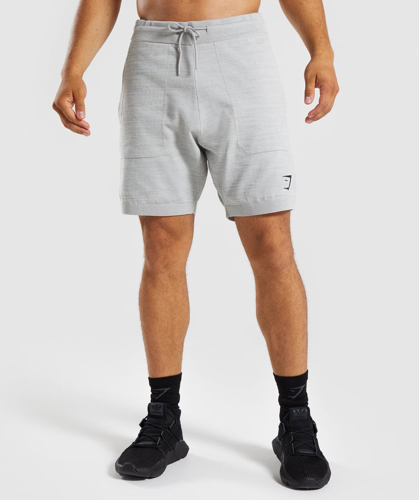 Gymshark Pinnacle Knit Shorts - Light Grey Marl 1