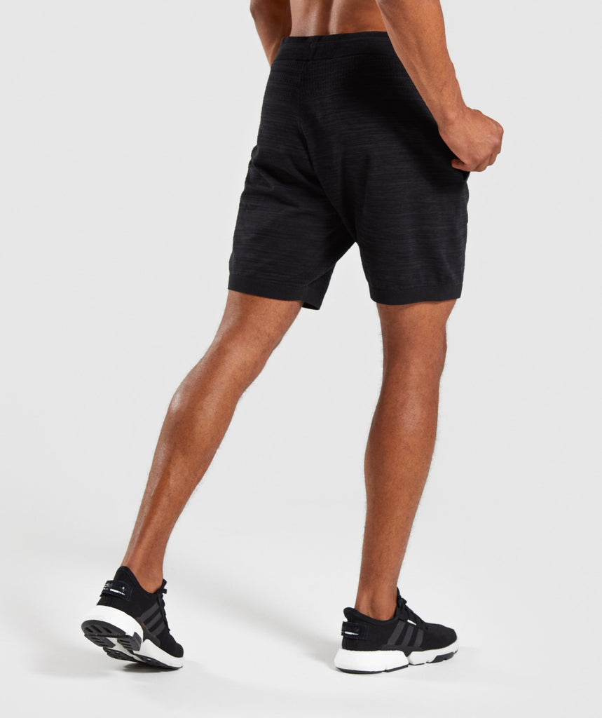 Gymshark Pinnacle Knit Shorts - Black Marl 2