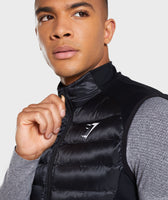 Gymshark Power Lightweight Gilet - Black 10