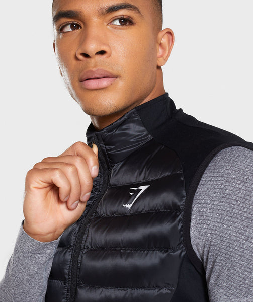 Gymshark Power Lightweight Gilet - Black 3