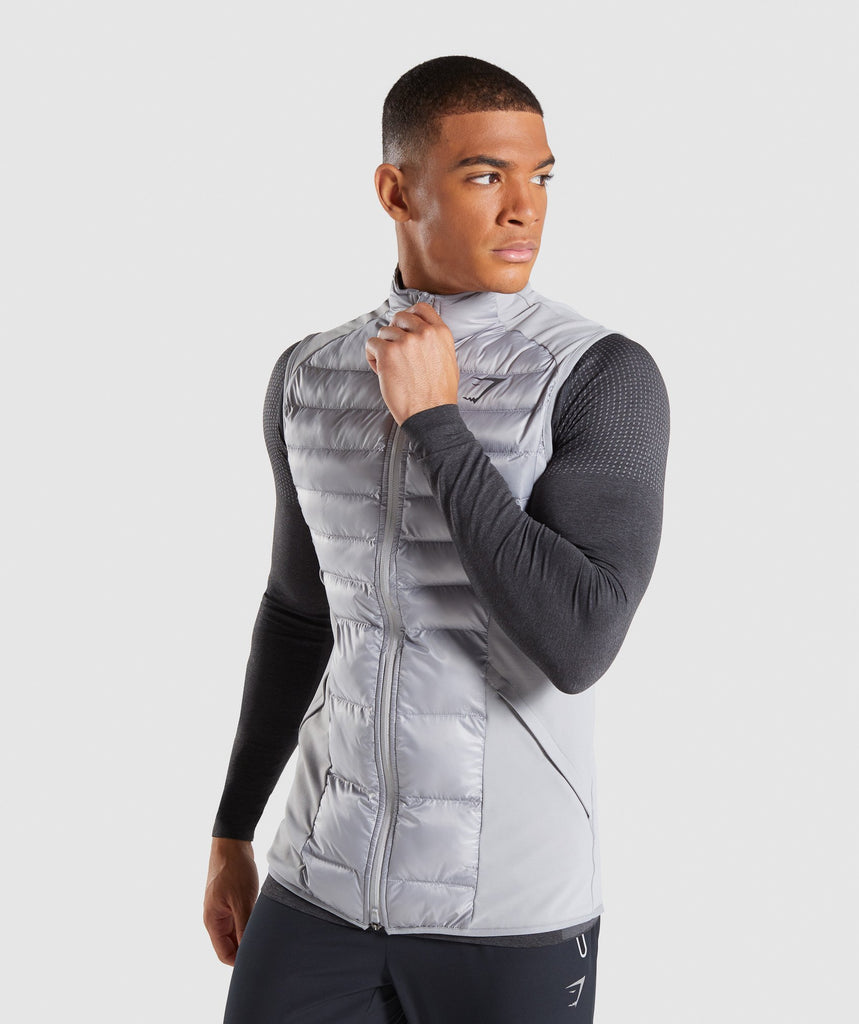 Gymshark Power Lightweight Gilet - Light Grey 1
