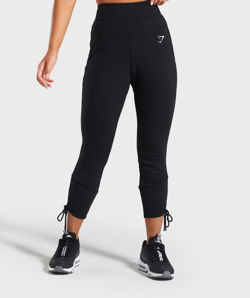 Gymshark Ruched Slim Fit Joggers -Black 1