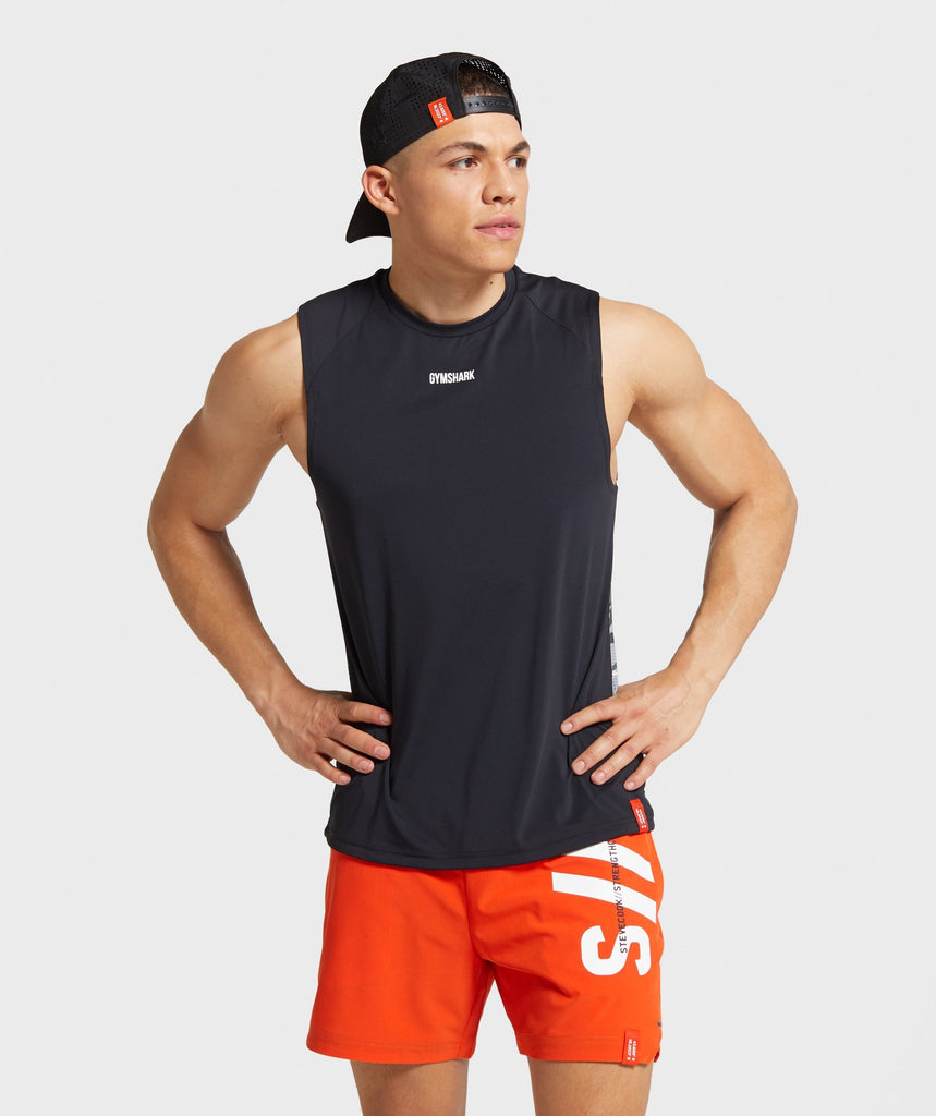 Gymshark Steve Cook Hybrid Sleeveless T-Shirt - Black Camo 1