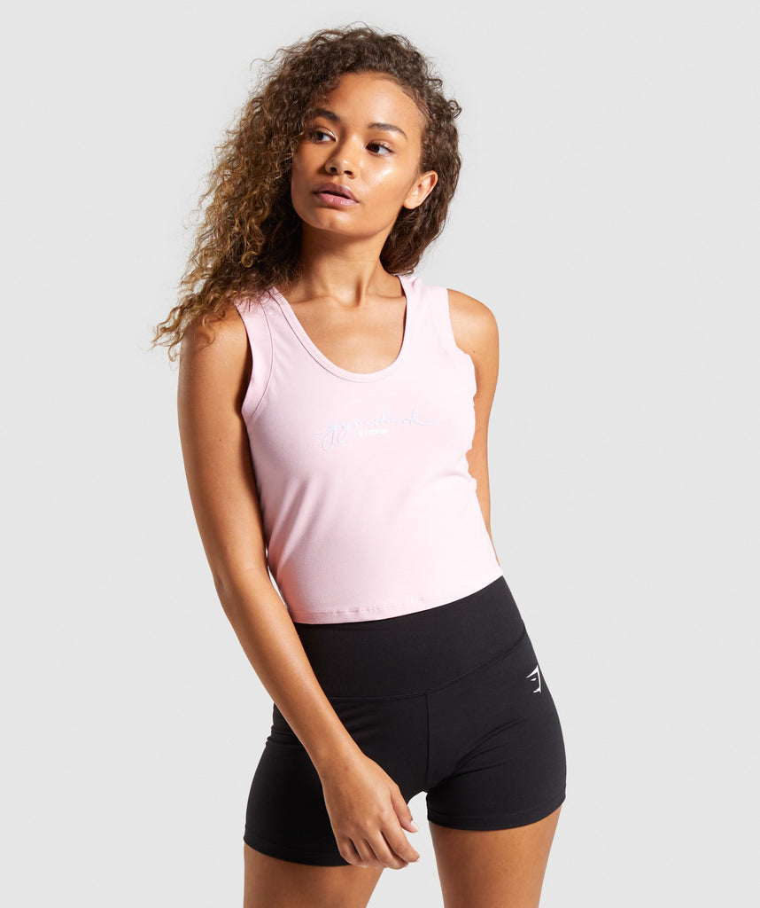 Gymshark Signature Crop Top - Pink 1