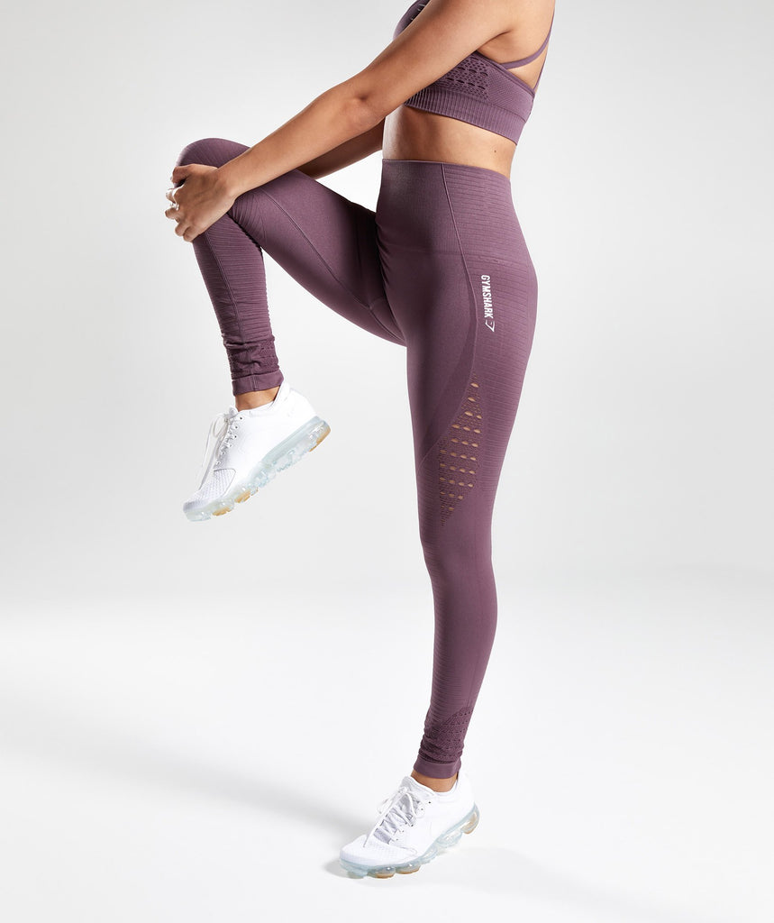 Gymshark Energy Seamless High Waisted Leggings - Purple Wash 1