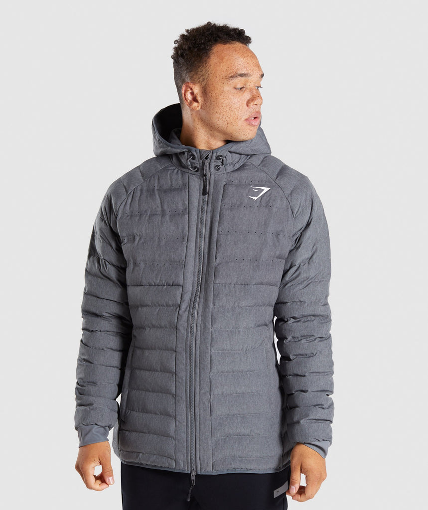 Gymshark Sector Jacket V2 - Charcoal Marl 1