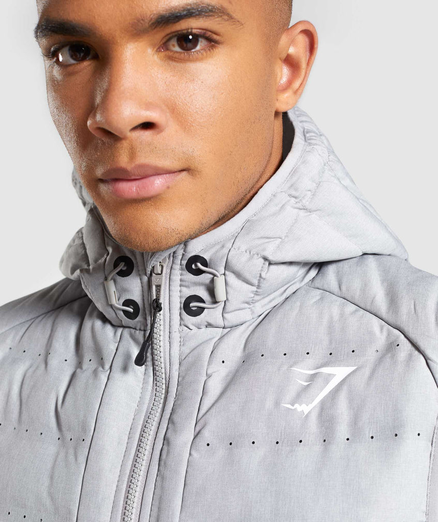 Gymshark Sector Gilet V2 - Light Grey 5