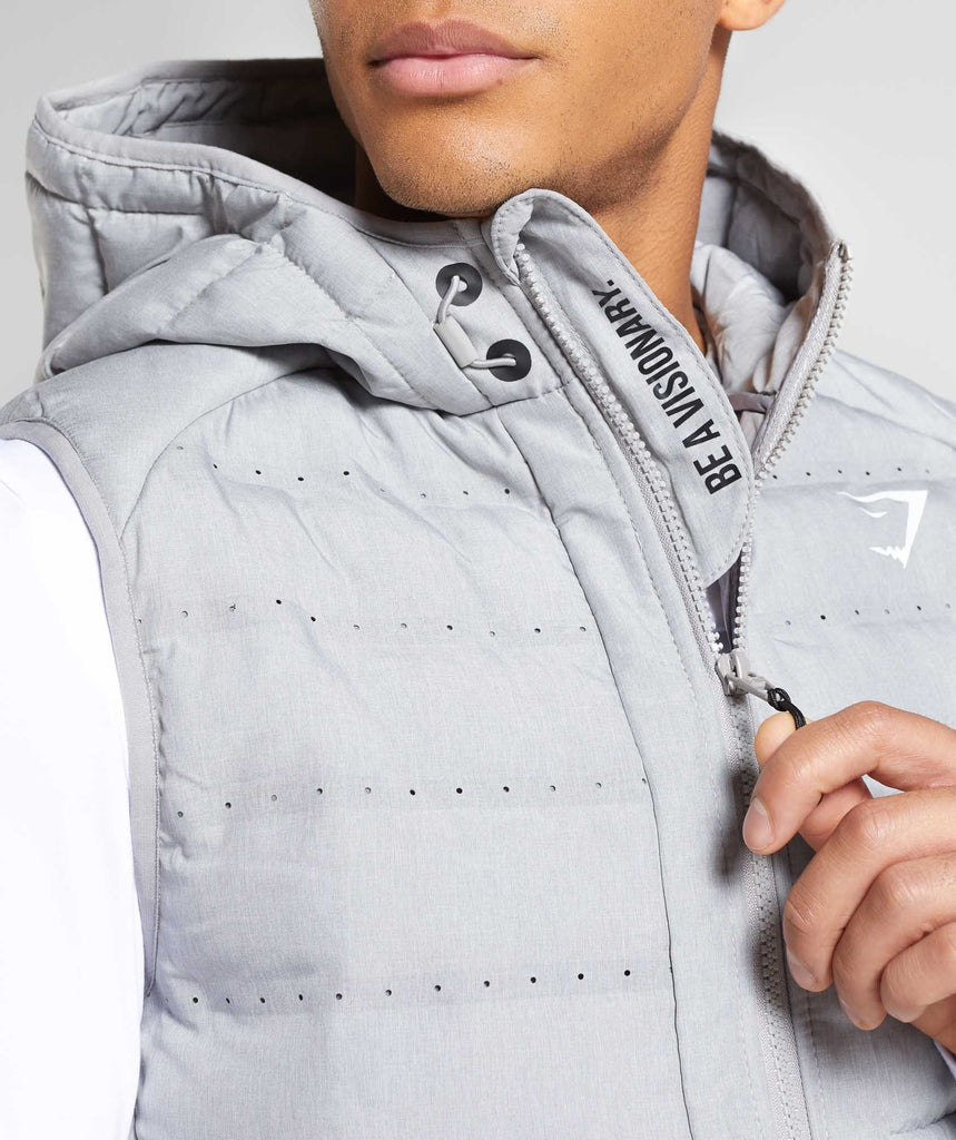 Gymshark Sector Gilet V2 - Light Grey 6