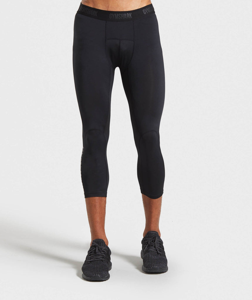 Gymshark Shadow 3/4 Leggings - Black 1