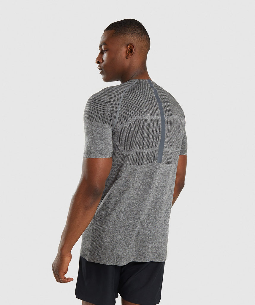 Gymshark Shadow X Seamless T-Shirt - Charcoal Marl 2