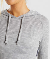 Gymshark Slounge Cropped Hoodie - Light Grey Marl 12