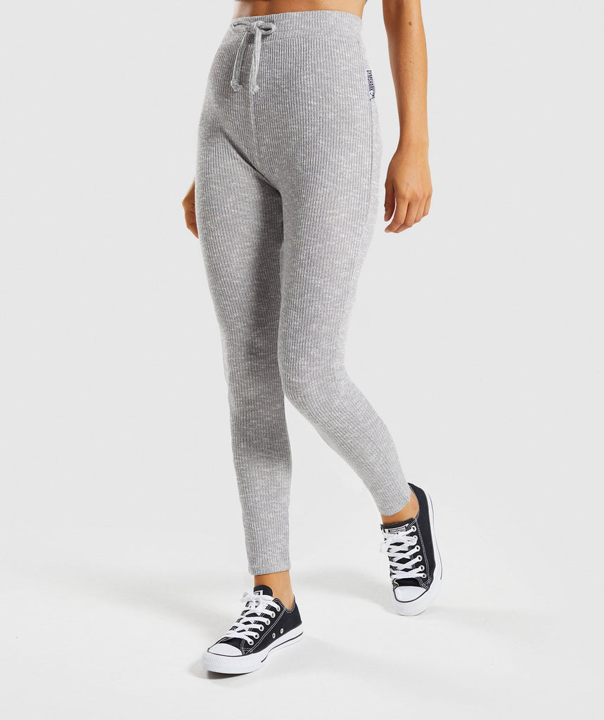 Gymshark Slounge Leggings - Light Grey Marl 1