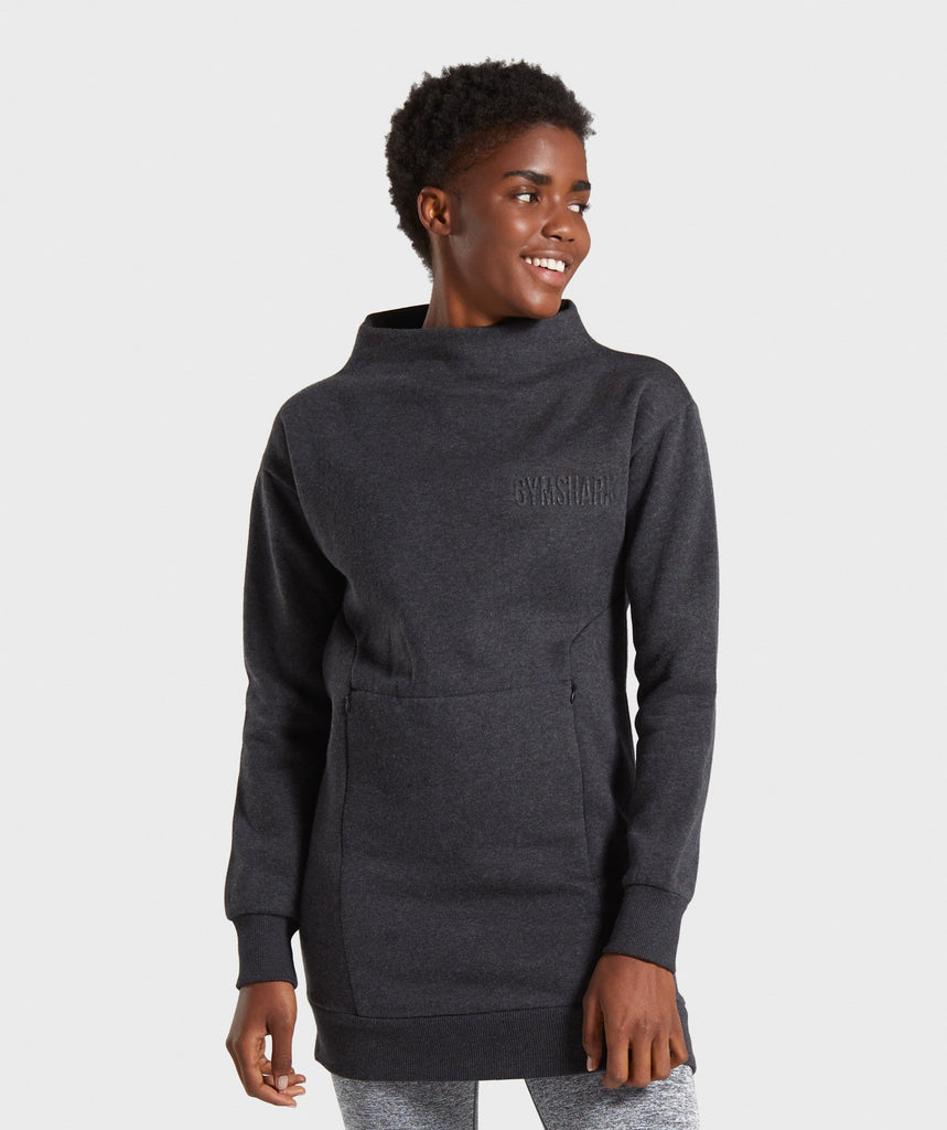 Gymshark So Soft Sweater - Black Marl 1