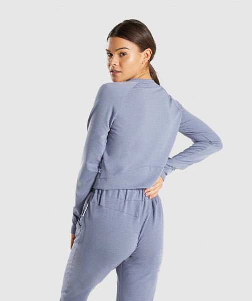 Gymshark Solace Sweater 2.0 - Steel Blue 1