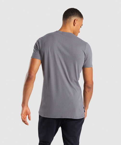 Gymshark Stamped Logo T-Shirt - Smokey Grey 1