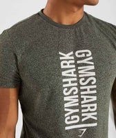 Gymshark Statement T-Shirt - Woodland Green Marl 12