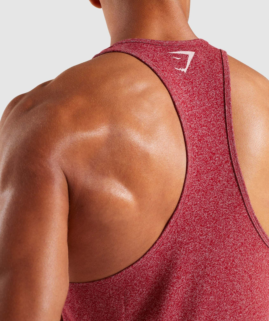 Gymshark Statement Stringer - Red Marl 6