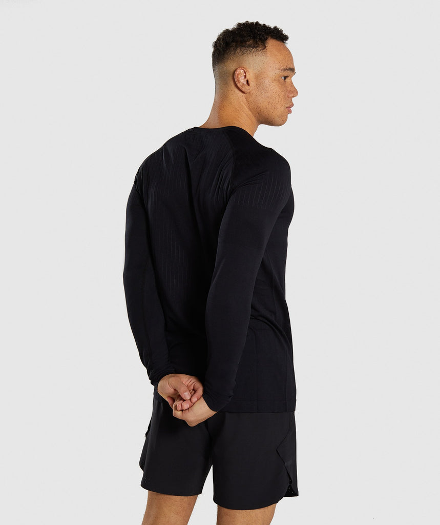 Gymshark Superior Lightweight Seamless Long Sleeve T-Shirt - Black 2