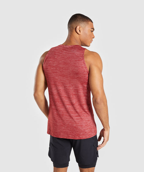 Gymshark Swerve Tank - Full Red Marl 1
