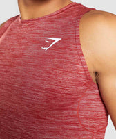 Gymshark Swerve Tank - Full Red Marl 11