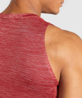 Gymshark Swerve Tank - Full Red Marl 12