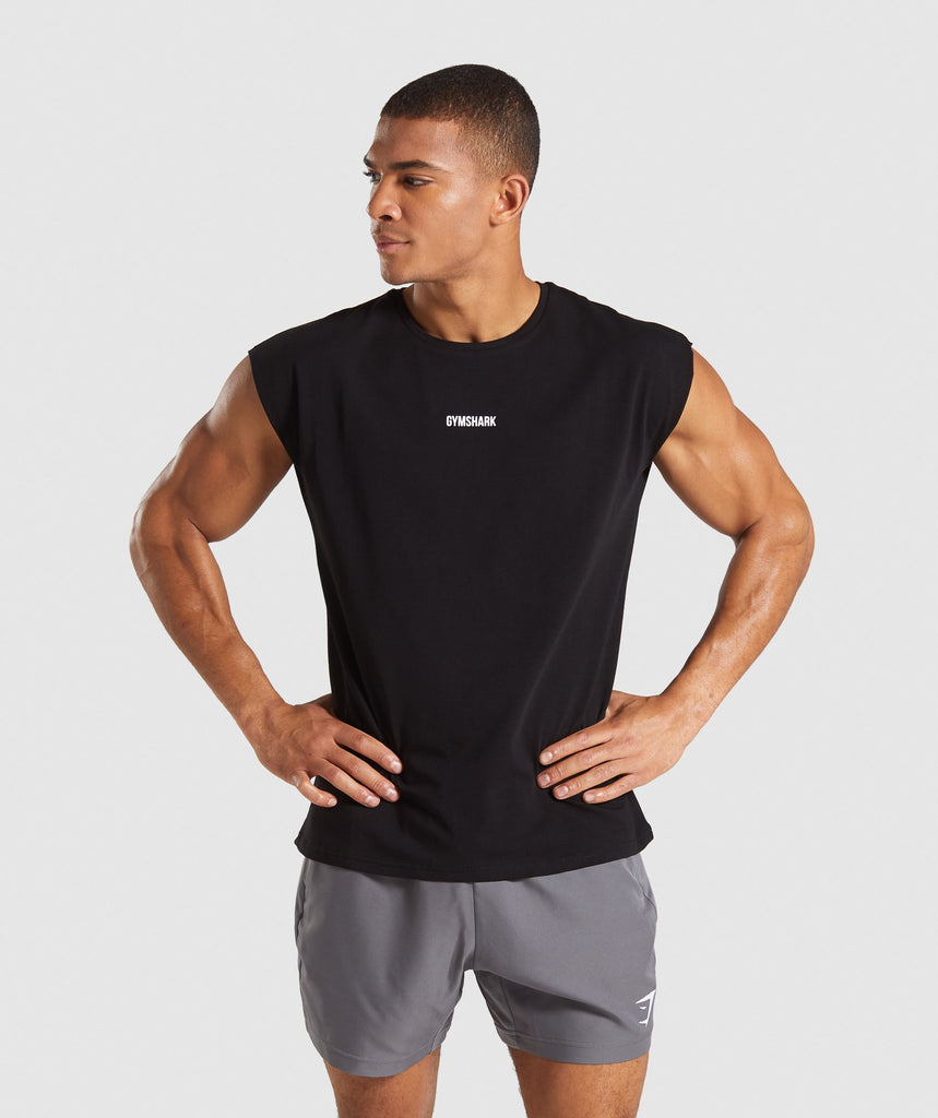 Gymshark TPT Cut off T-Shirt - Black 1