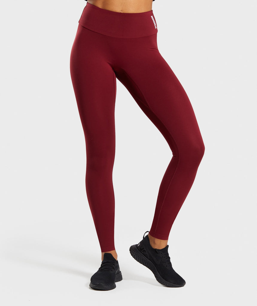 Gymshark Training Leggings - Claret 1