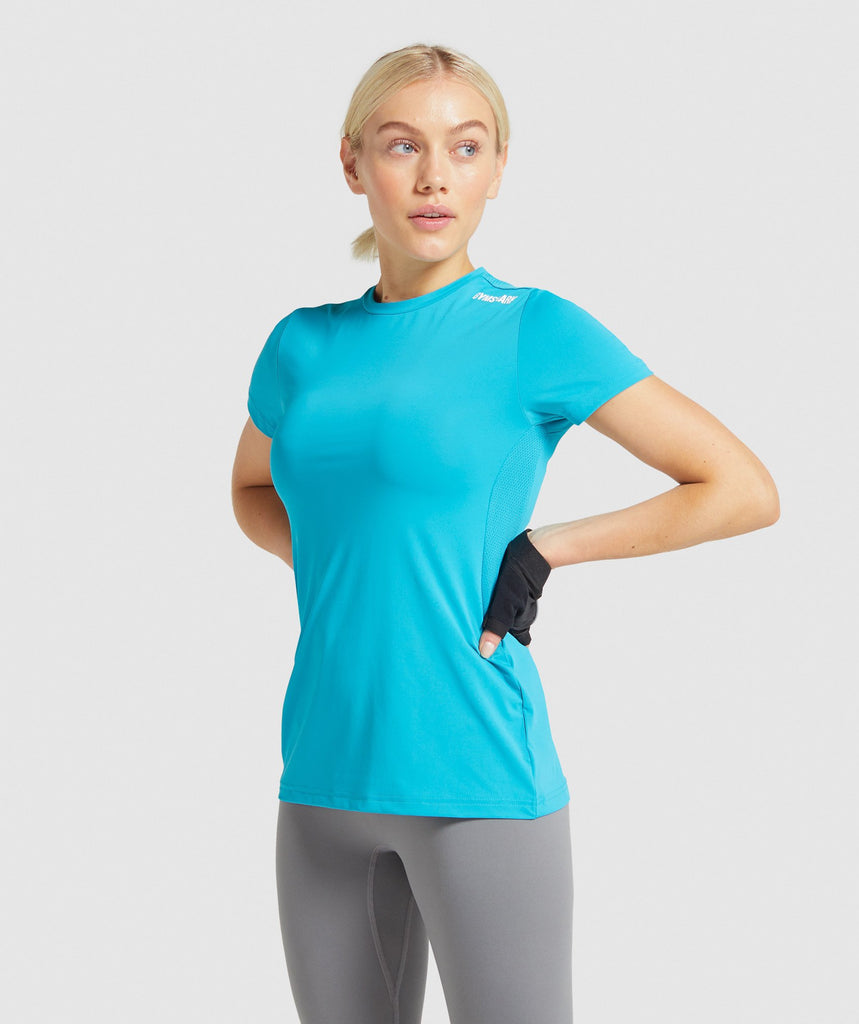 Gymshark Training Tee - Teal 1
