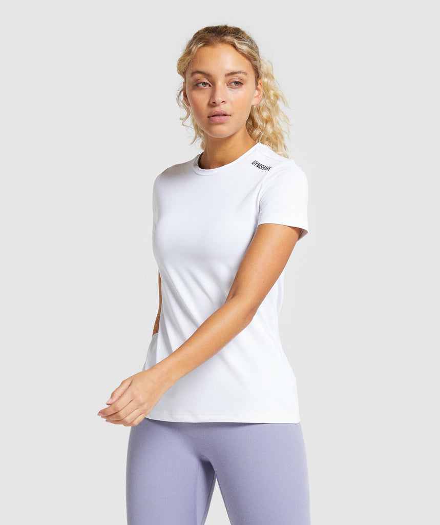 Gymshark Training Tee - White 1