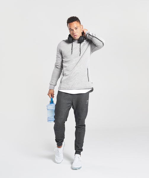 Gymshark Take Over Pullover - Light Grey Marl 2