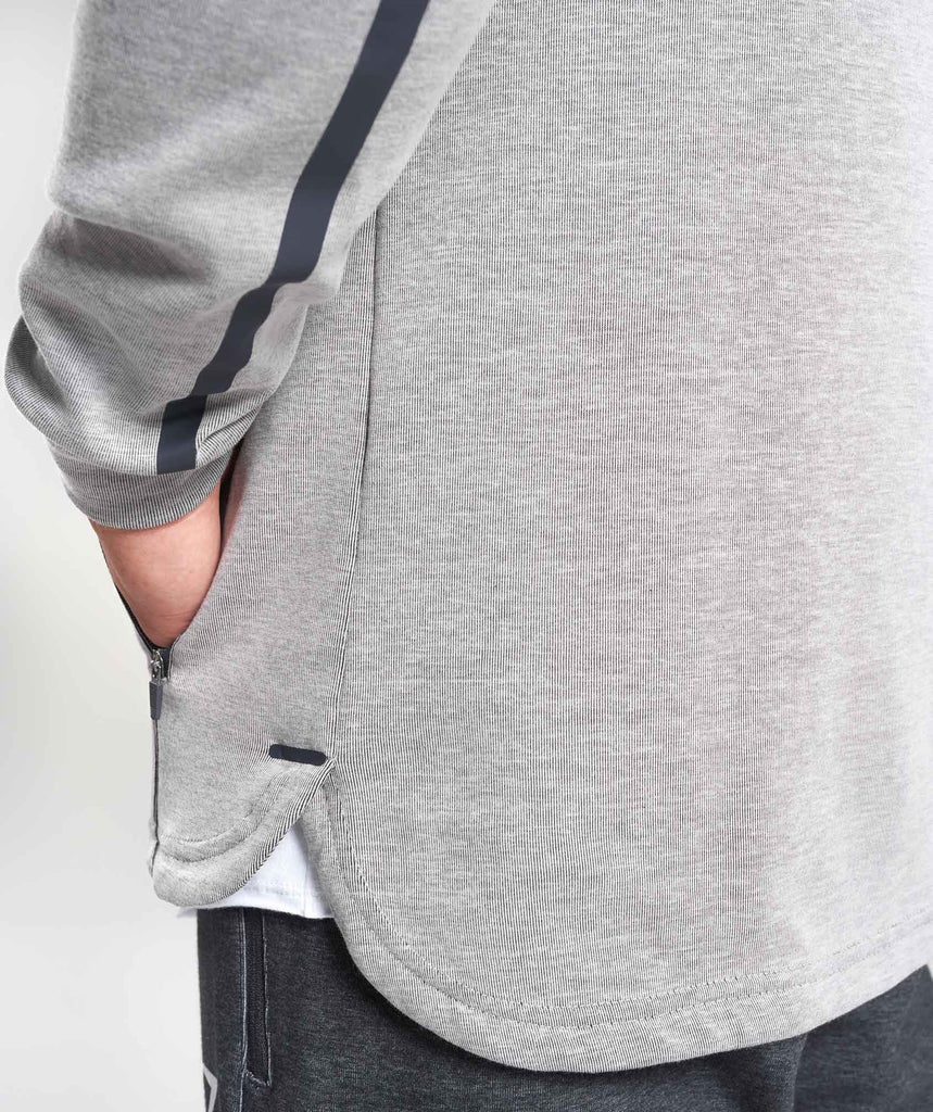Gymshark Take Over Pullover - Light Grey Marl 6