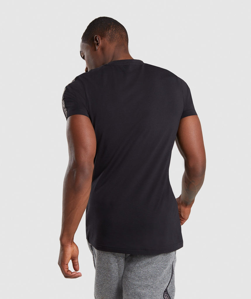 Gymshark Taped T-Shirt - Black 2