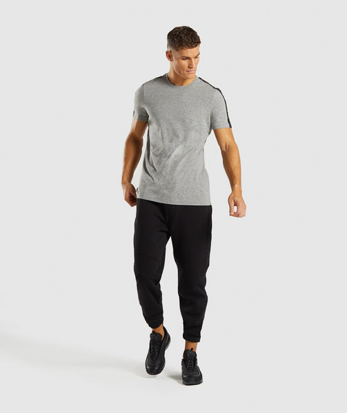 Gymshark Taped T-Shirt - Grey Marl 3
