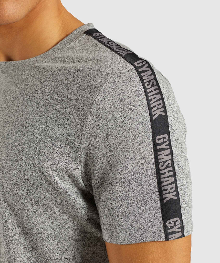 Gymshark Taped T-Shirt - Grey Marl 5