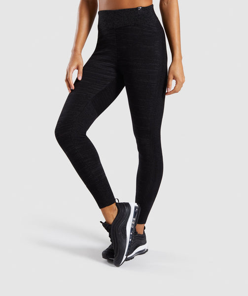 Gymshark Time Out Knit Joggers - Black Marl 4