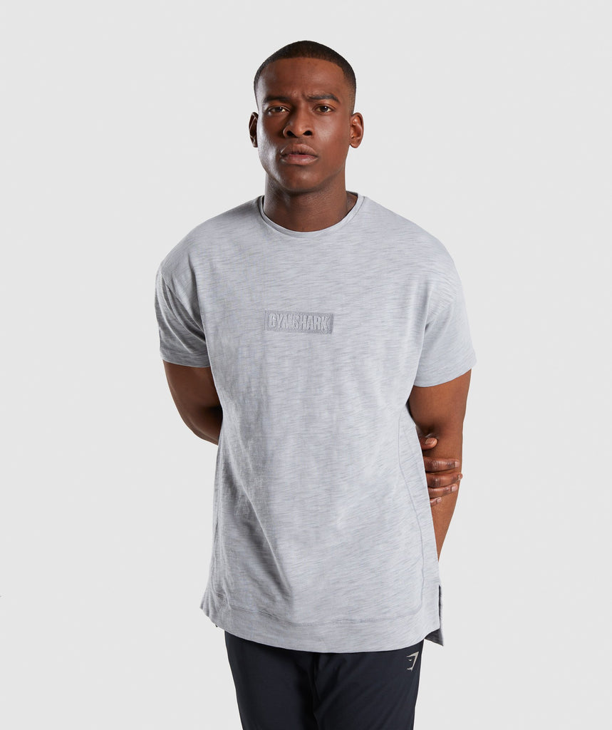 Gymshark Tonal T-Shirt - Light Grey 1