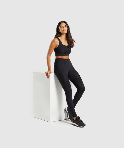 Gymshark True Texture Sports Bra - Black 2