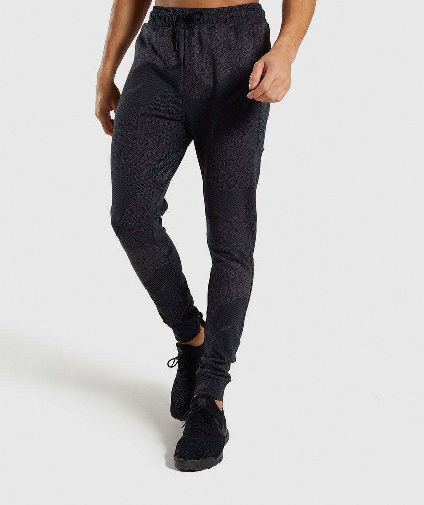 Gymshark Ultra Jacquard Joggers - Charcoal 1