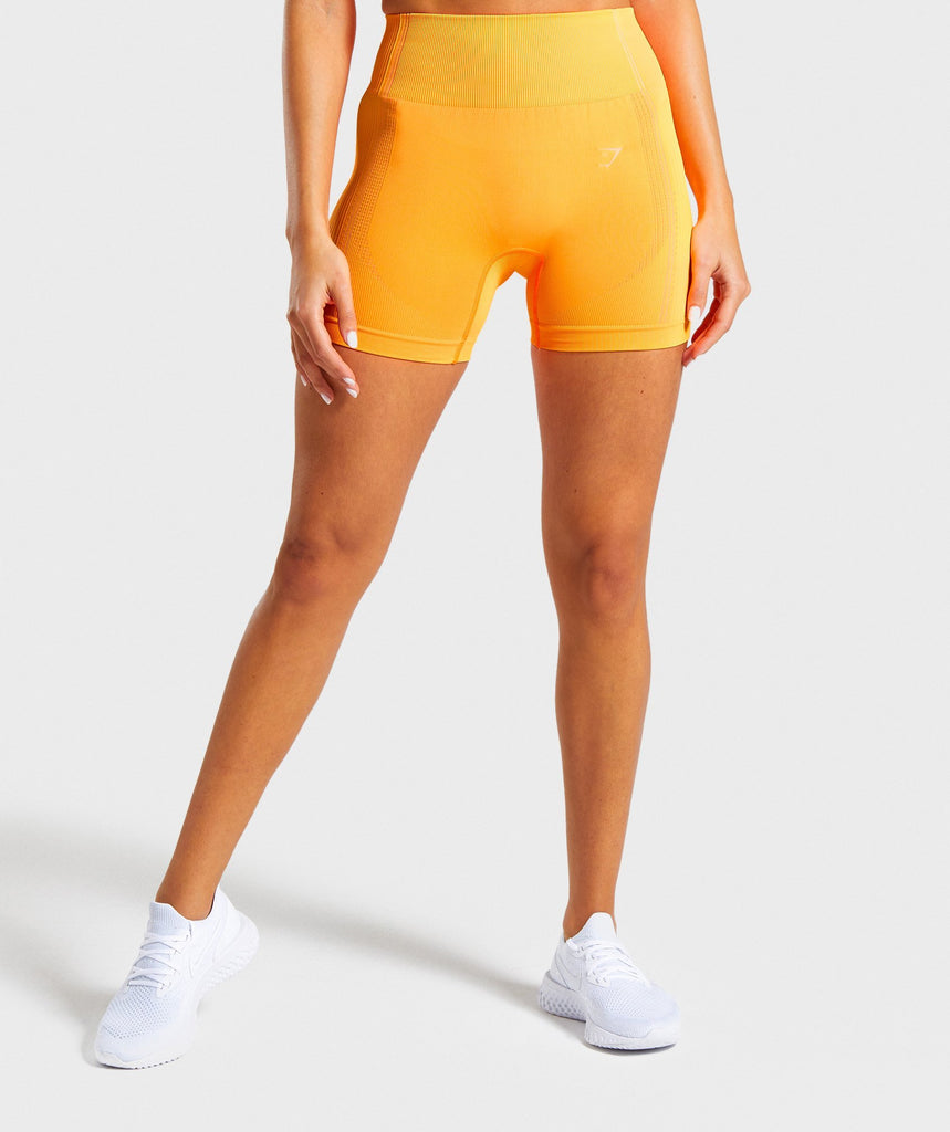 Gymshark Ultra Seamless Shorts - Orange 1