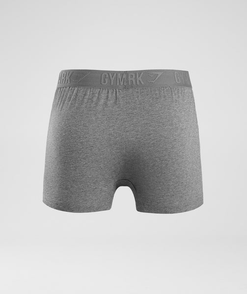 Gymshark Debossed Logo Trunks 2pk - Charcoal Marl 1