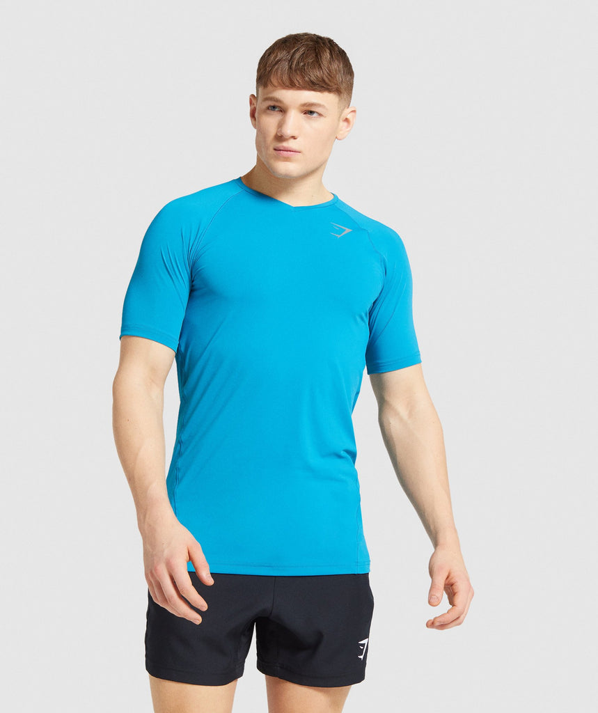 Gymshark Veer T-Shirt - Light Blue 1