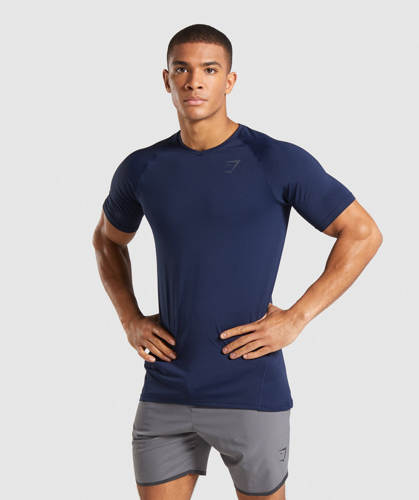 Gymshark Veer T-Shirt - Dark Blue 1