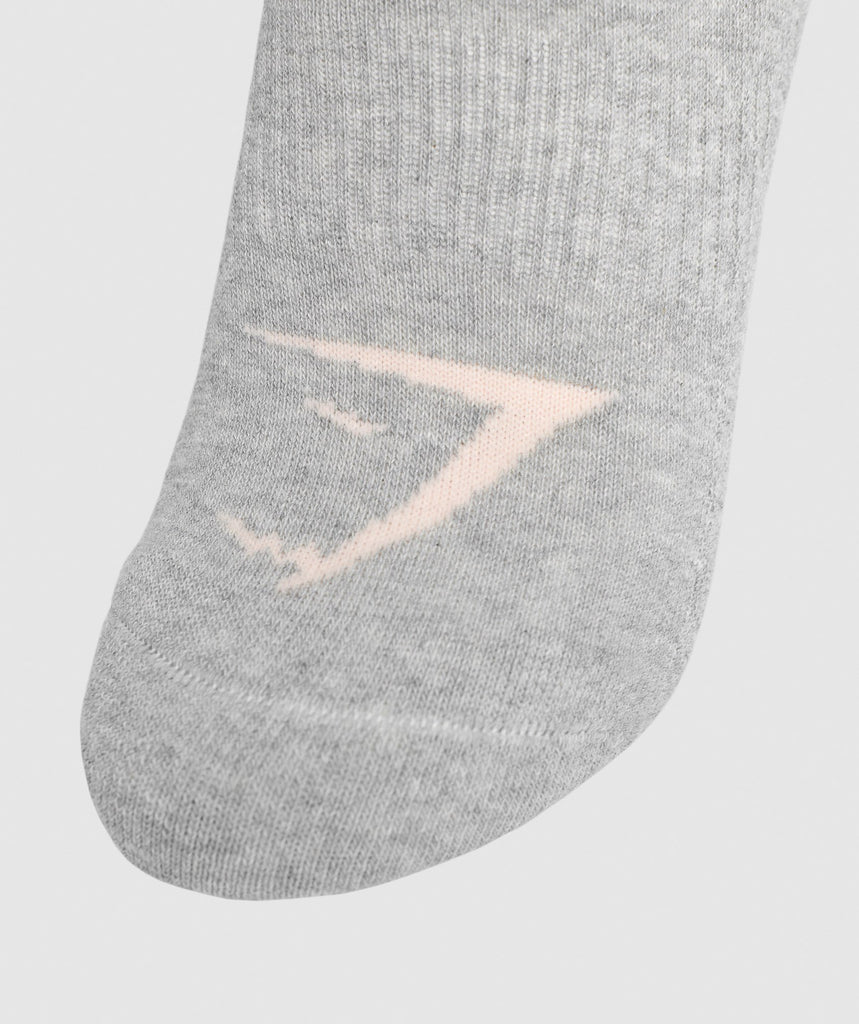 Gymshark Womens Ladies Trainer Socks (3pk) - Oyster White 2