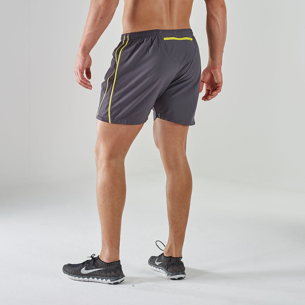 Gymshark Ascendant Gym Shorts - Grey/Yellow