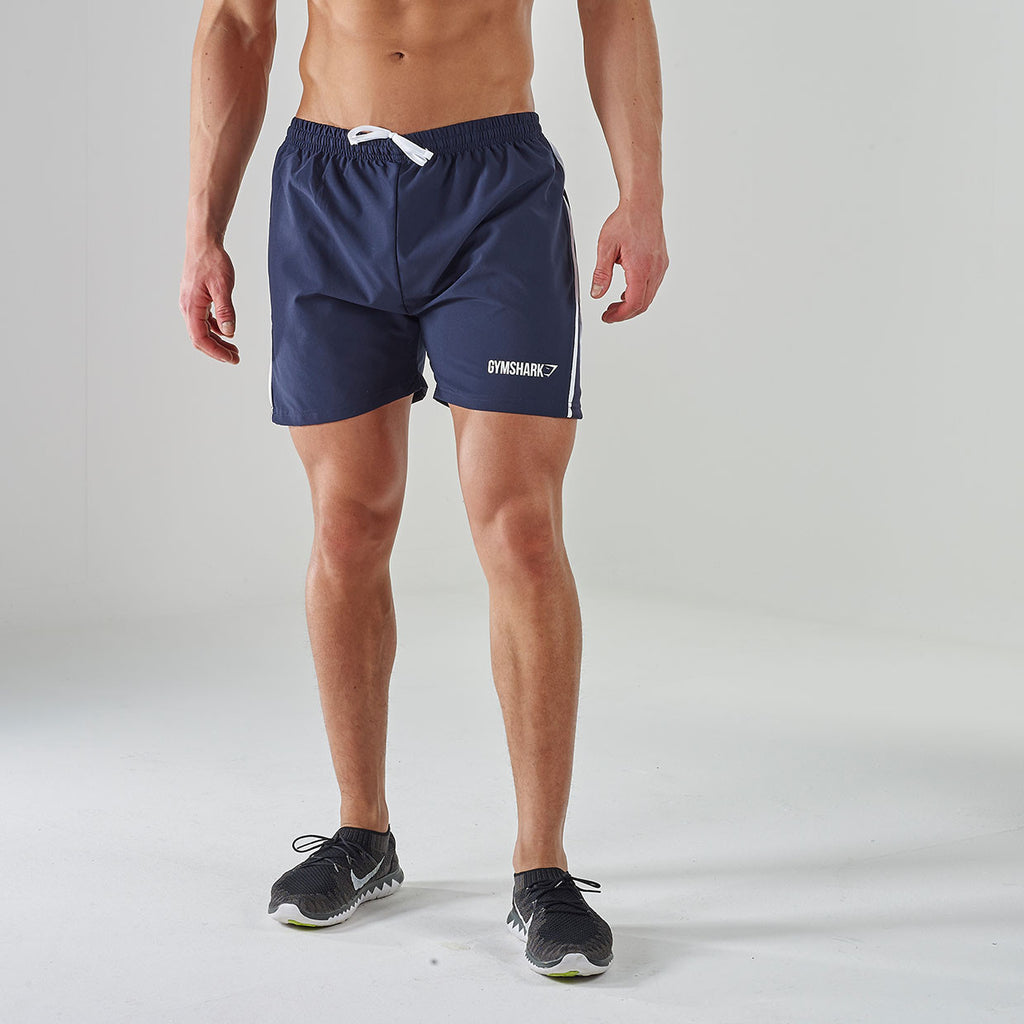 Gymshark Ascendant Gym Shorts - Navy/White