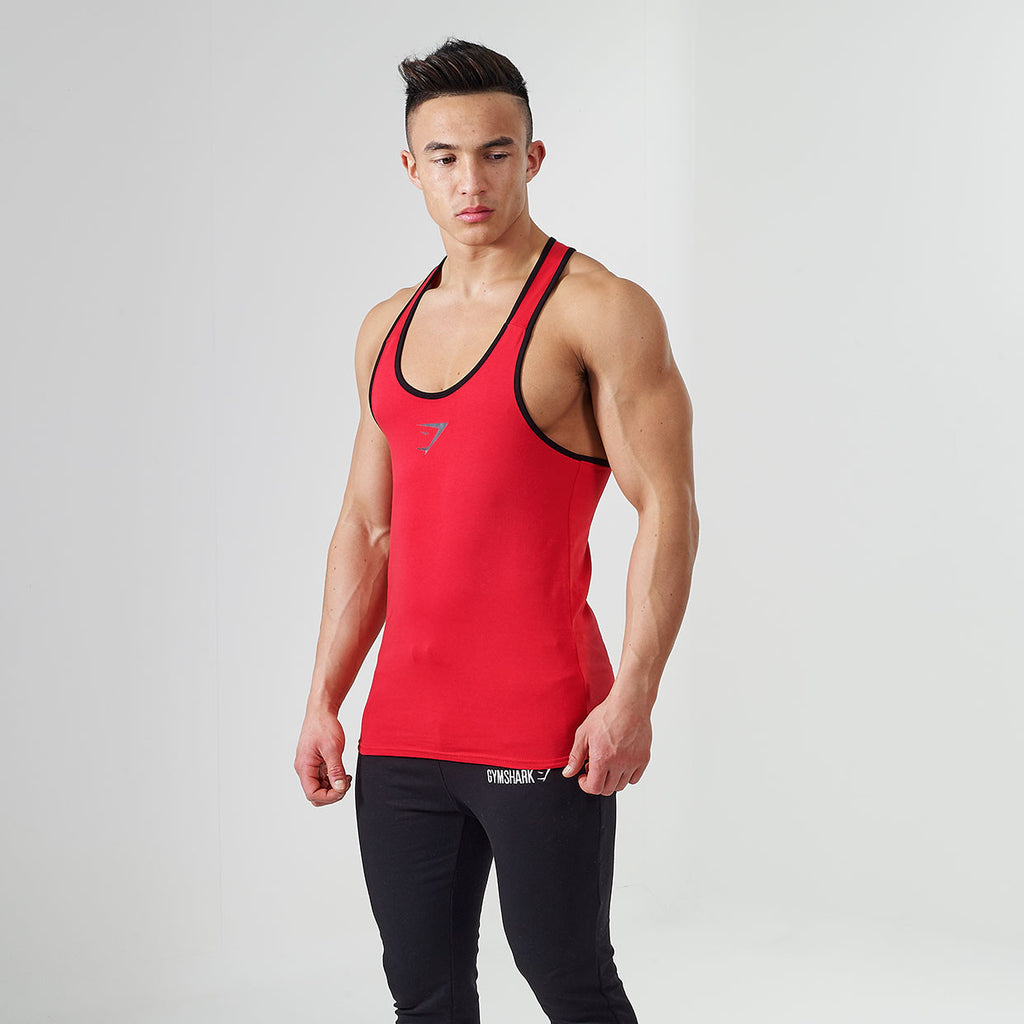 Gymshark ION Strike Gym Stringer - Red